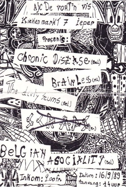 89-09-16 Belgian Asociality - Dirty Scums - Chronic Disease