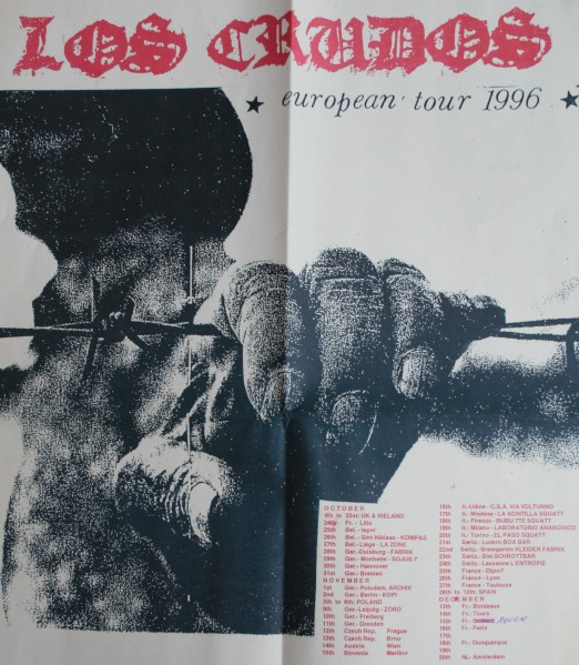Los Crudos tourposter 96 (-)