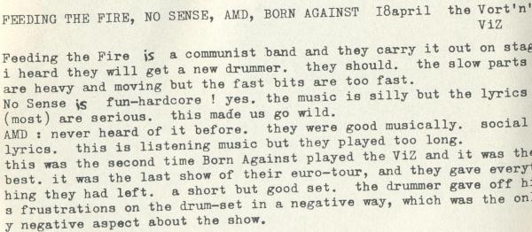92-04-18 Born Against (reviwe Reminder #1)