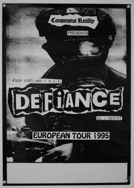 95 Defiance tour-poster