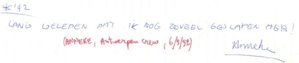 VV 92-09-06 - (book A) Anneke