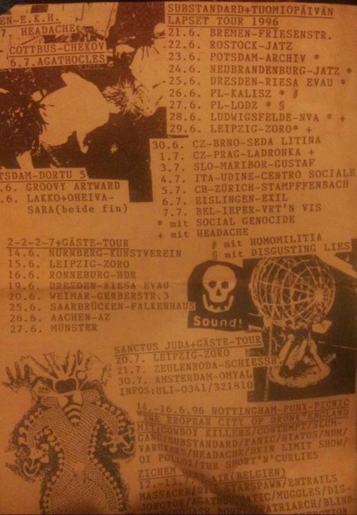 96 Substandard T.L. tour