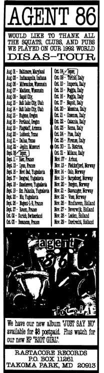 92 Agent 86 tour