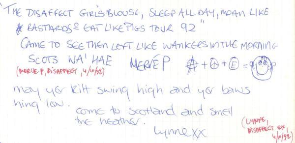 VV 92-10-04 - (book A) Disaffect Lynne