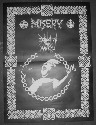 96 Extinction Of Mankind + Misery tourposter