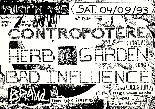 93-09-04 Contropotere - Herb Garden - Bad Influence - Brawl