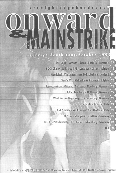 95-10 Onward - Mainstrike tour