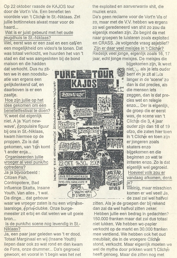 94-10-22 Pure Chaos Tour (Fifi #4 nov 94) a