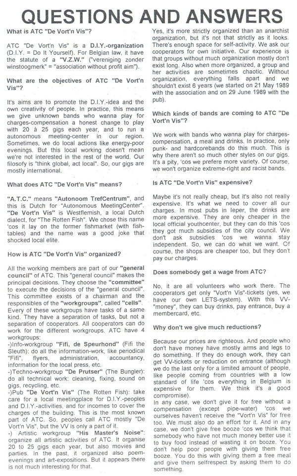 Questions & Answers (Fifi #6 aug 95) a