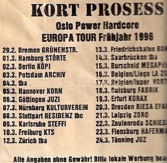 96 Kort Prosess tour