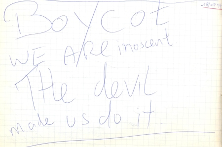 VV 97-05-18 - (book C) Boycot
